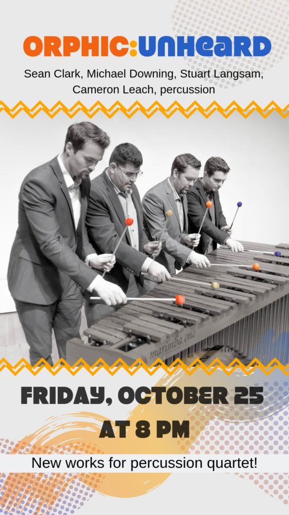 Orphic Percussion - Friday, October 25 at 8 pm