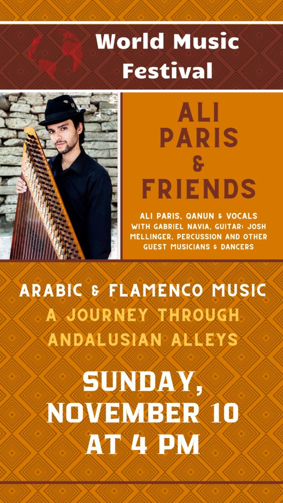 Ali Paris plays Flamenco and Arabic Music - Sunday, November 10 at 4 pm