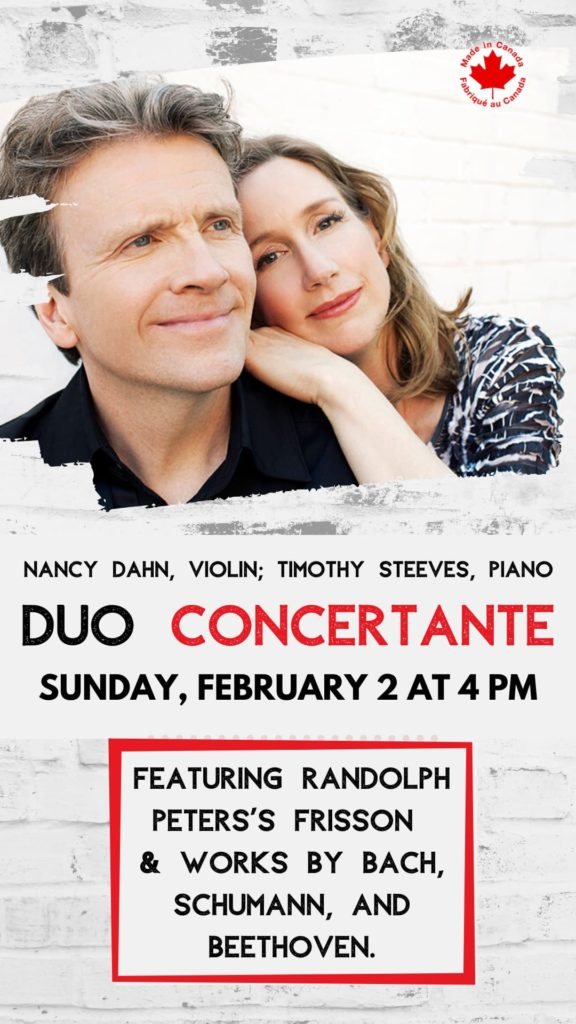 Duo Concertante - Sunday, Feb 2 at 4 pm