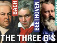 The Three B's - Sunday, April 26 at 3 pm