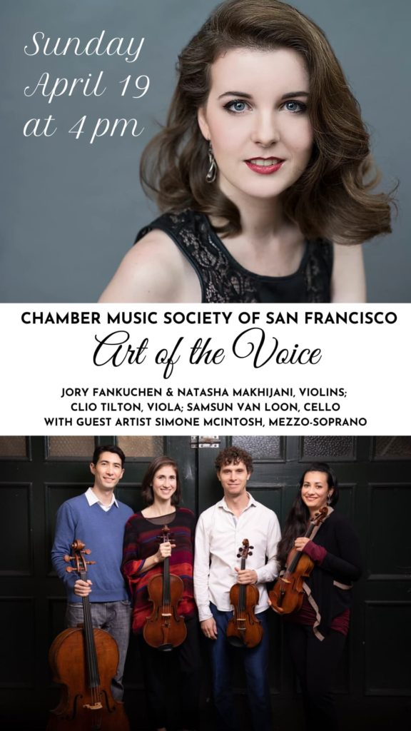 Art of the Voice - Sunday, April 19 at 4 pm