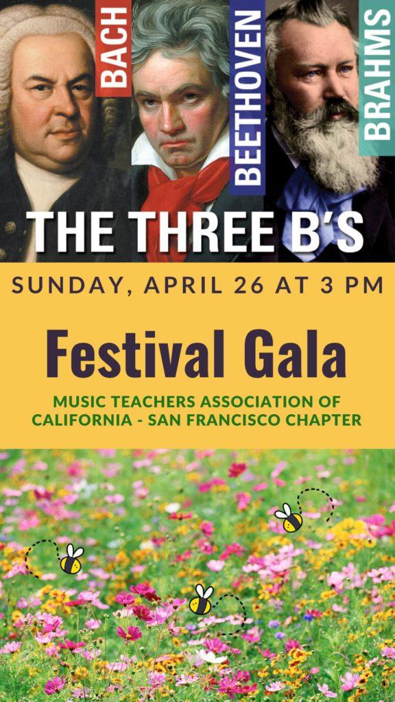 MTAC-SF - Three B's - Sunday, April 28 at 3 pm