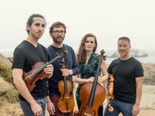 a photograph of the Del Sol String Quartet