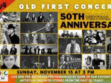 Old First Concerts 50th Anniversary Gala - Sunday, November 15 at 2 pm